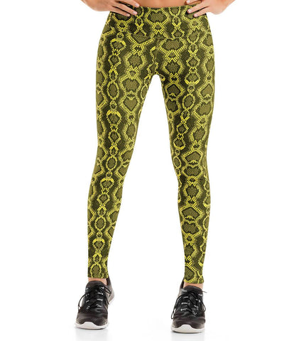 Yellow - Black Skinny Legging