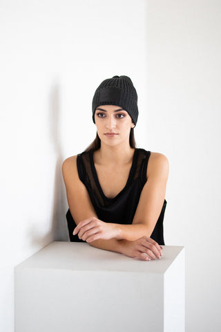 Fisherman MVC Beanie in Charcoal