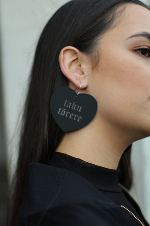 Load image into Gallery viewer, Rare Manawa – Large Earring in Matte Black