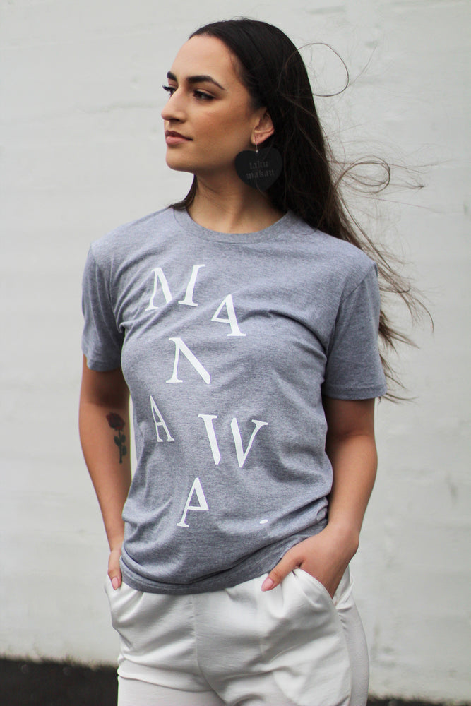Load image into Gallery viewer, Manawa T-Shirt - Grey Marle