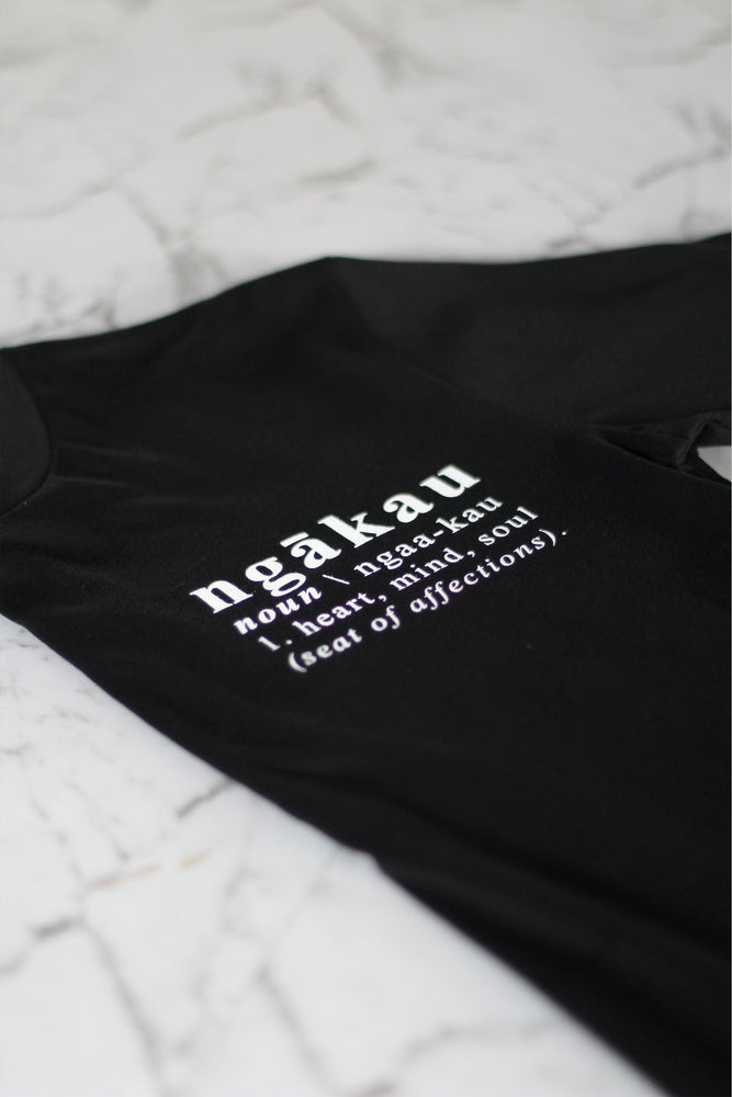 Load image into Gallery viewer, Ngākau, Definition T-Shirt - Black