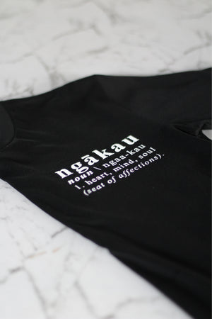 Ngākau, Definition T-Shirt - Black