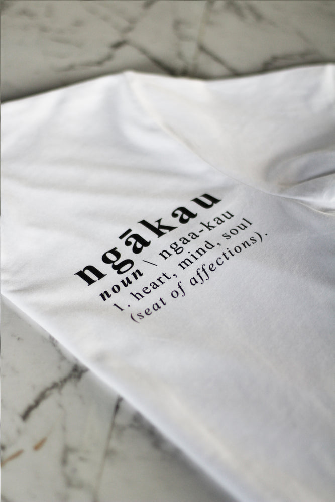 Load image into Gallery viewer, Ngākau, Definition T-Shirt - White