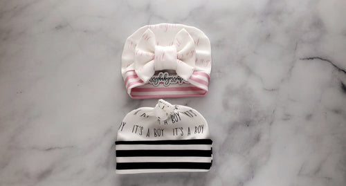 It's a Girl | It's a Boy - Newborn Hats