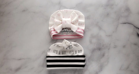 Personalized Hat - (NEWBORN HAT)