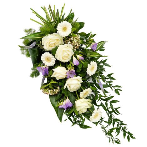 Mixed funeral bouquet for sympathy occasion, available for same day delivery in Trinidad Tobago.
