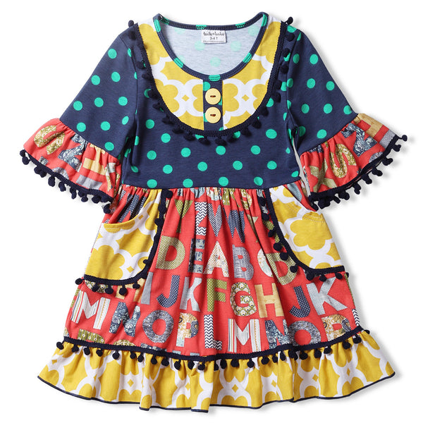 Colorful Swing Dress with Pockets