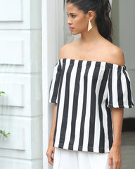 HAVEN BLACK/WHITE TOP - Cole Vintage