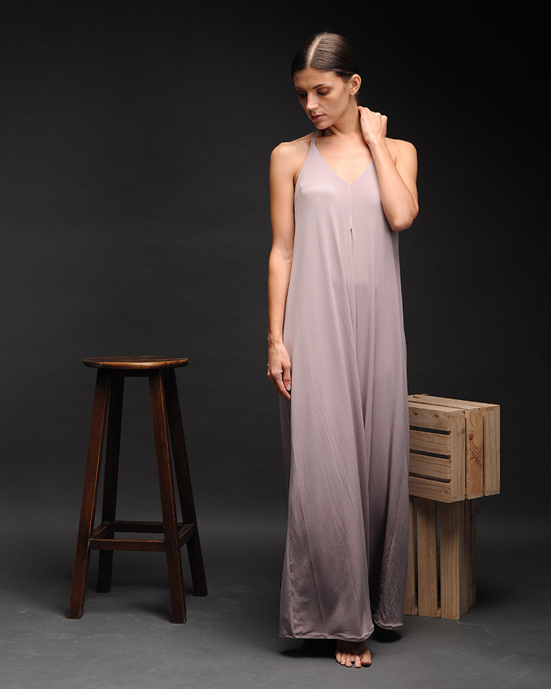 Priscilla Nude Maxi Dress - Cole Vintage