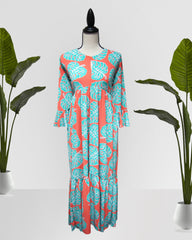 AMELIA POMELO MAXI DRESS - Cole Vintage