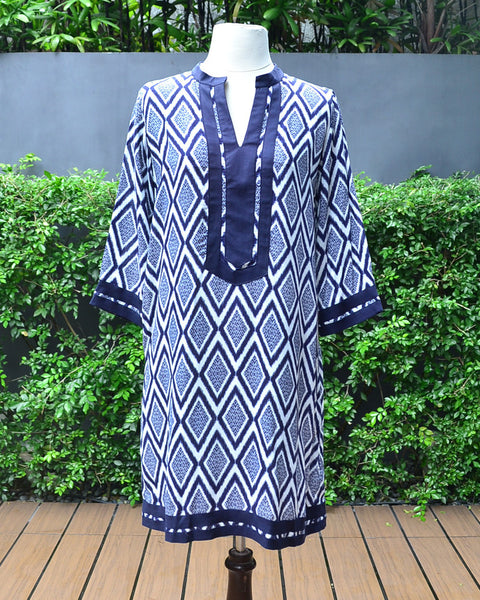 Athena Blue/White - Tunic - Cole Vintage