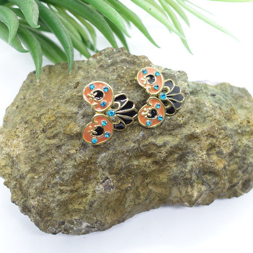Gardena Enamel Earrings - Cole Vintage