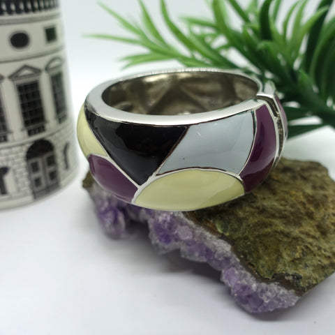 Fernly Enamel Bangle - Cole Vintage