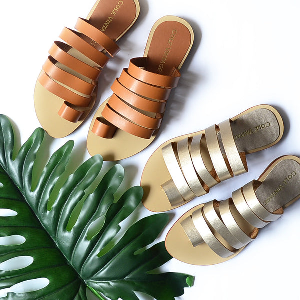 Hanoi Slip On Sandals - Cole Vintage