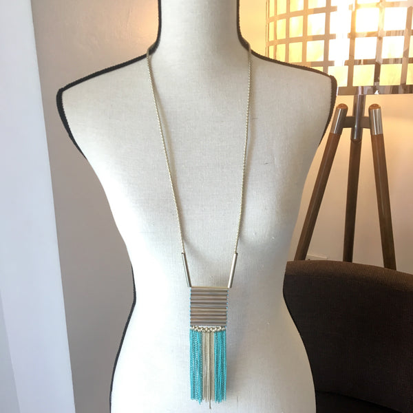 Whitinsville Long Beaded Necklace