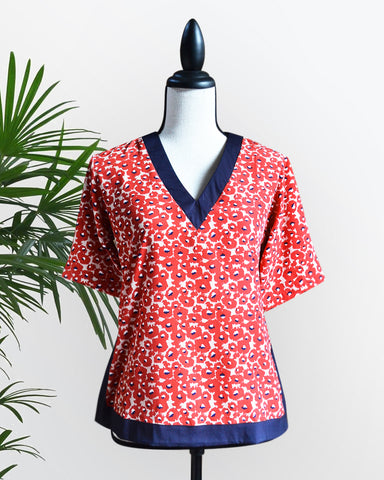 MARILEE NAVY BLUE/RED TOP - Cole Vintage