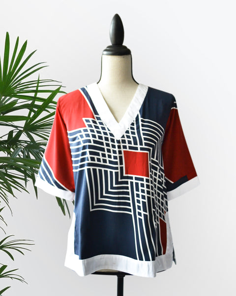 MARILEE PRINTED RED - Cole Vintage