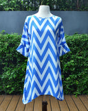 Messie Chevron - Short Dress - Cole Vintage