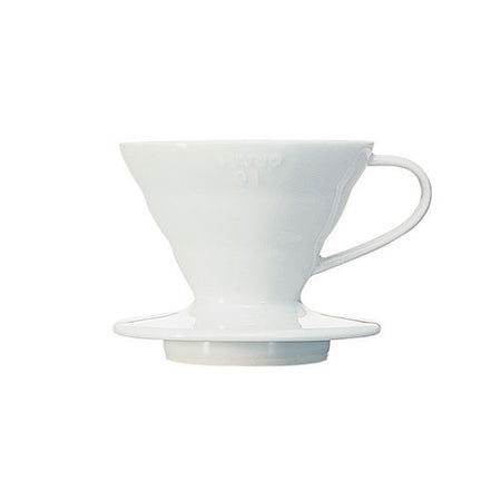 Hario V60 1 cup ceramic white pourover cone filter coffee
