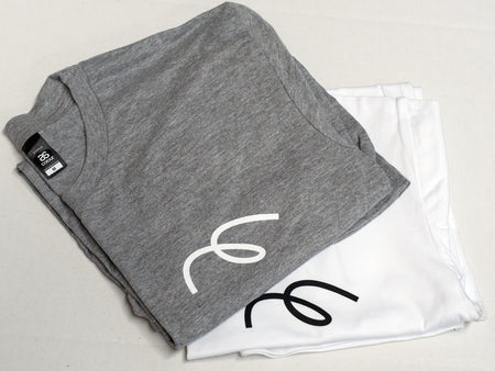 Maker loop logo tshirts in grey and white