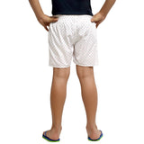 Kick Start Boy's White Cotton Arrow Print Boxer