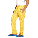 Kick Start Boy's Yellow Cotton Smily Print Pyjama