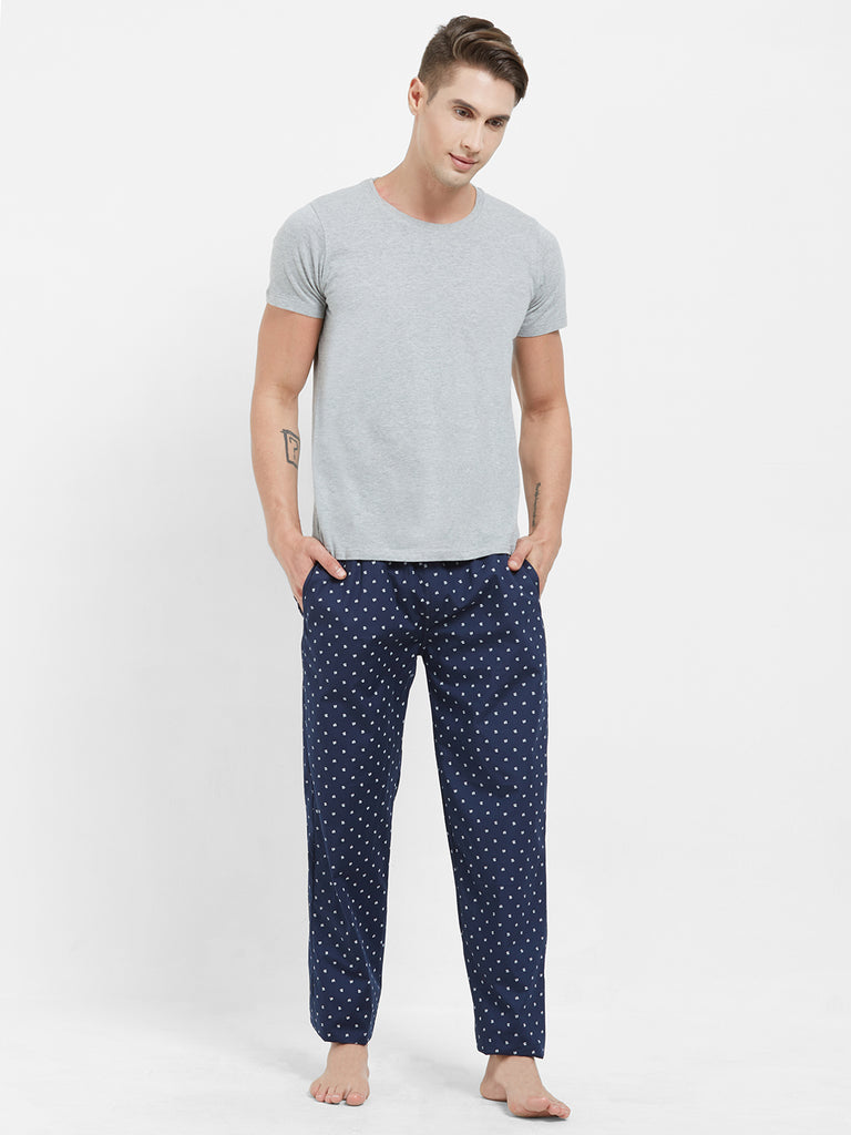 London Bee Men's Cotton Poplin Printed Pyjama/ Lounge Pant MPLB0137