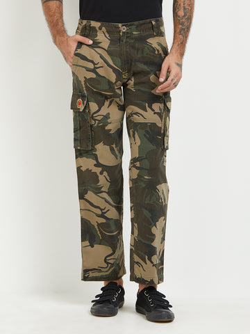 London Bee Army Print Cargo Pant MFPLB0022