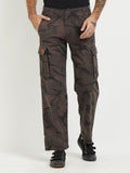 London Bee Army Print Cargo Pant MFPLB0024