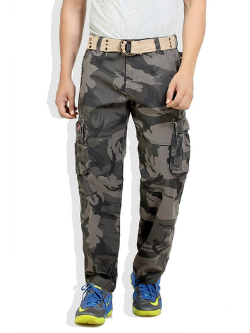London Bee Men's Army Print Cargo Pant  MFPLB0009