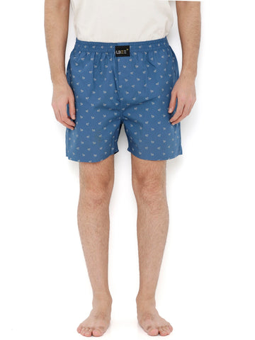 Blue Cotton Printed Boxers MLB0140
