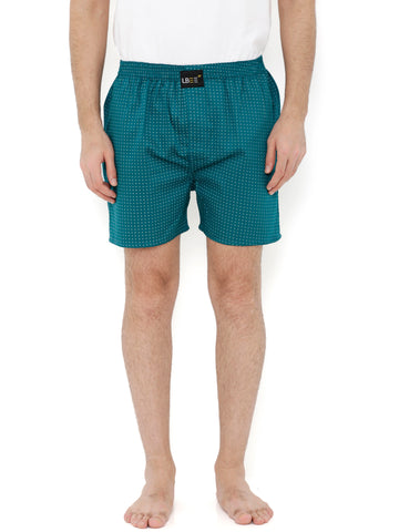 Green Cotton Printed Boxers  MLB0147
