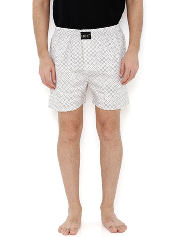 Off White Cotton Printed Boxer MLB0153