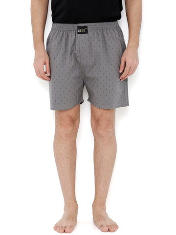Grey Cotton Printed Boxers  MLB0154