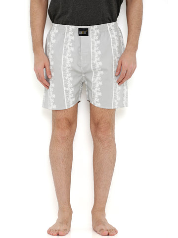 Grey Cotton Coconut Tree Printed Boxers  MLB0158