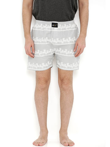 Grey Cotton Coconut Tree Printed Boxers  MLB0165