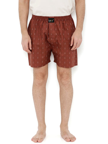 Rust Cotton Arrow Printed Boxers MLB0166