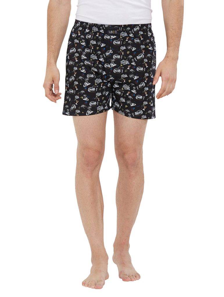 London Bee Men's Cotton Printed Boxer MLB0175