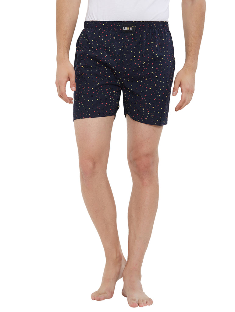 London Bee Men's Cotton Printed Boxer MLB0177