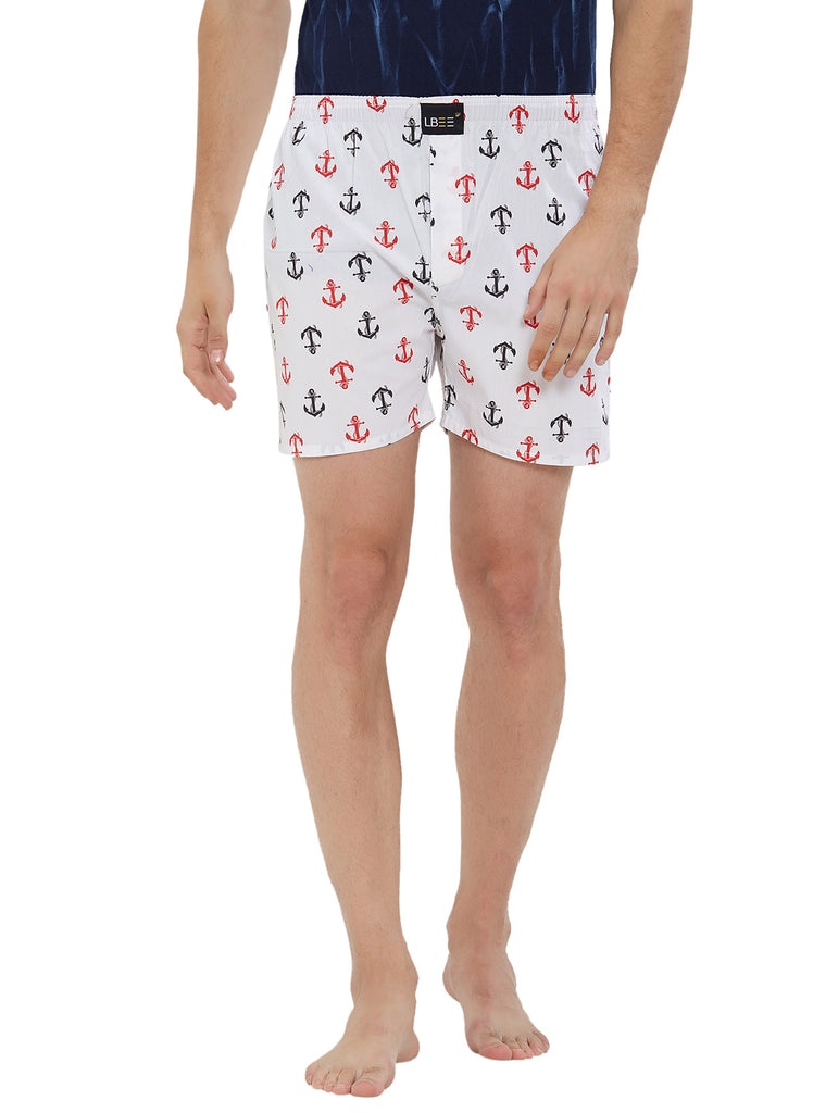 London Bee Men's Cotton Printed Boxer MLB0180
