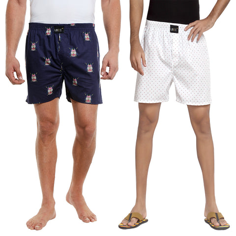 London Bee Multi Color Cotton Printed Combo Pack Of 2 Boxers MLBCP20059