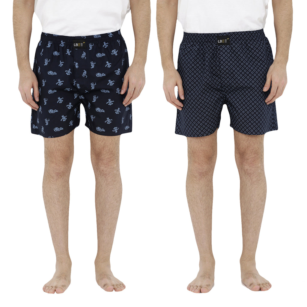 London bee men's boxer combo pack of 2  MLBCP20063