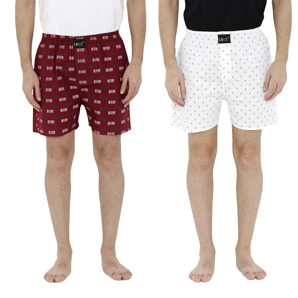 London bee men's boxer combo pack of 2  MLBCP20073