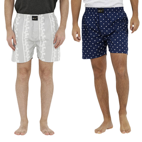 London bee men's boxer combo pack of 2  MLBCP20080