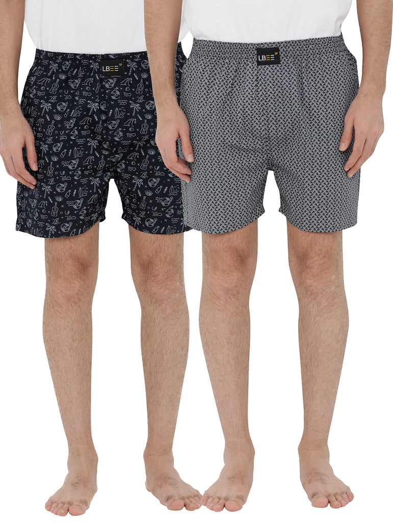 London bee men's boxer combo pack of 2 MLBCP20092