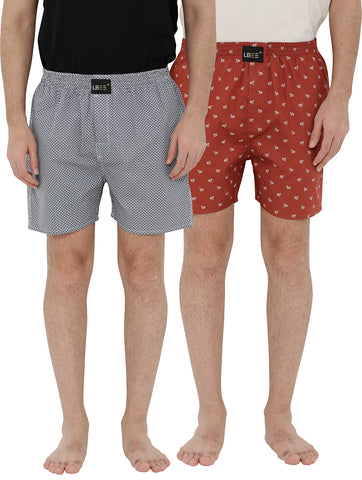London bee men's boxer combo pack of 2 MLBCP20095