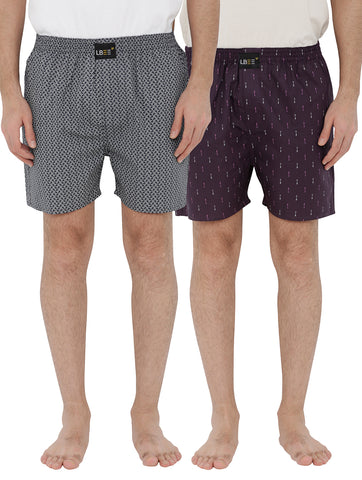 London bee men's boxer combo pack of 2 MLBCP20099