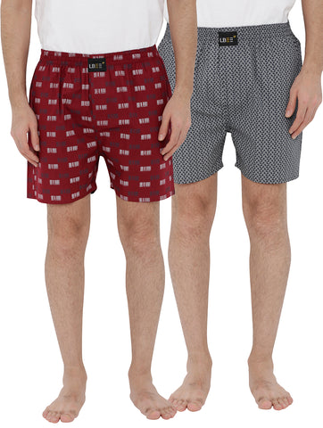 London bee men's boxer combo pack of 2 MLBCP20103