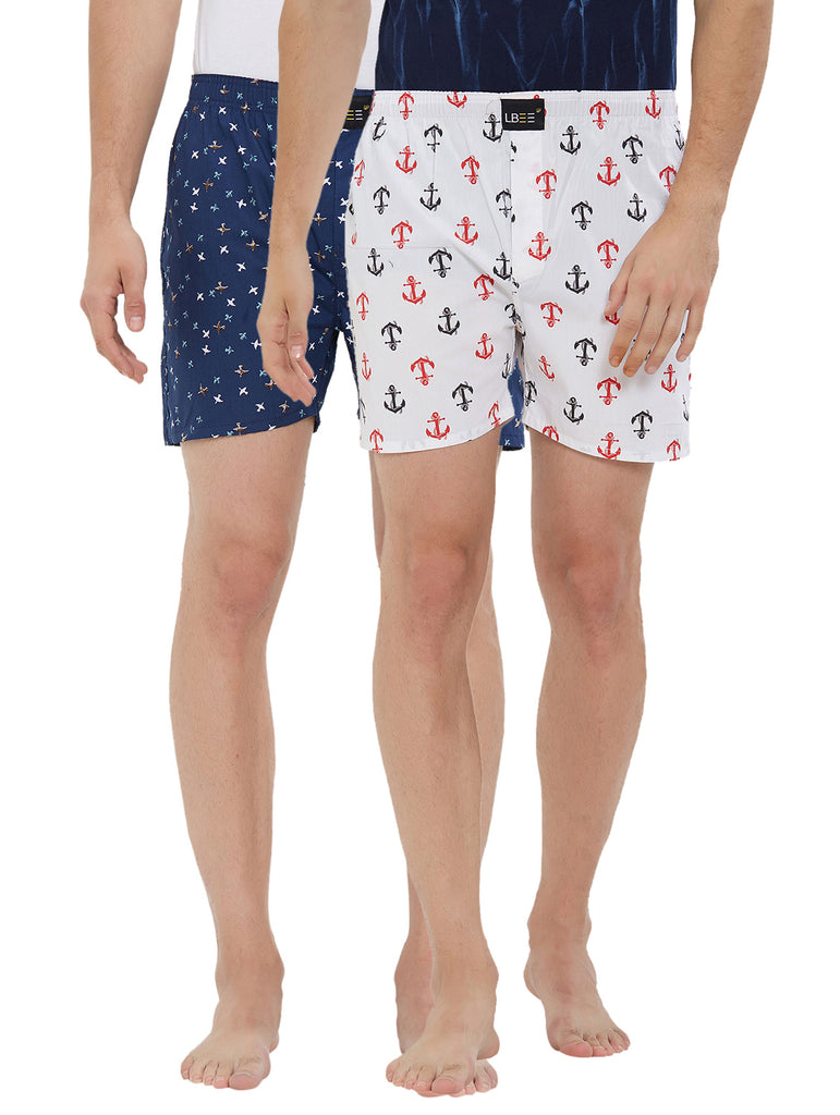 London bee men's boxer combo pack of 2 MLBCP20121