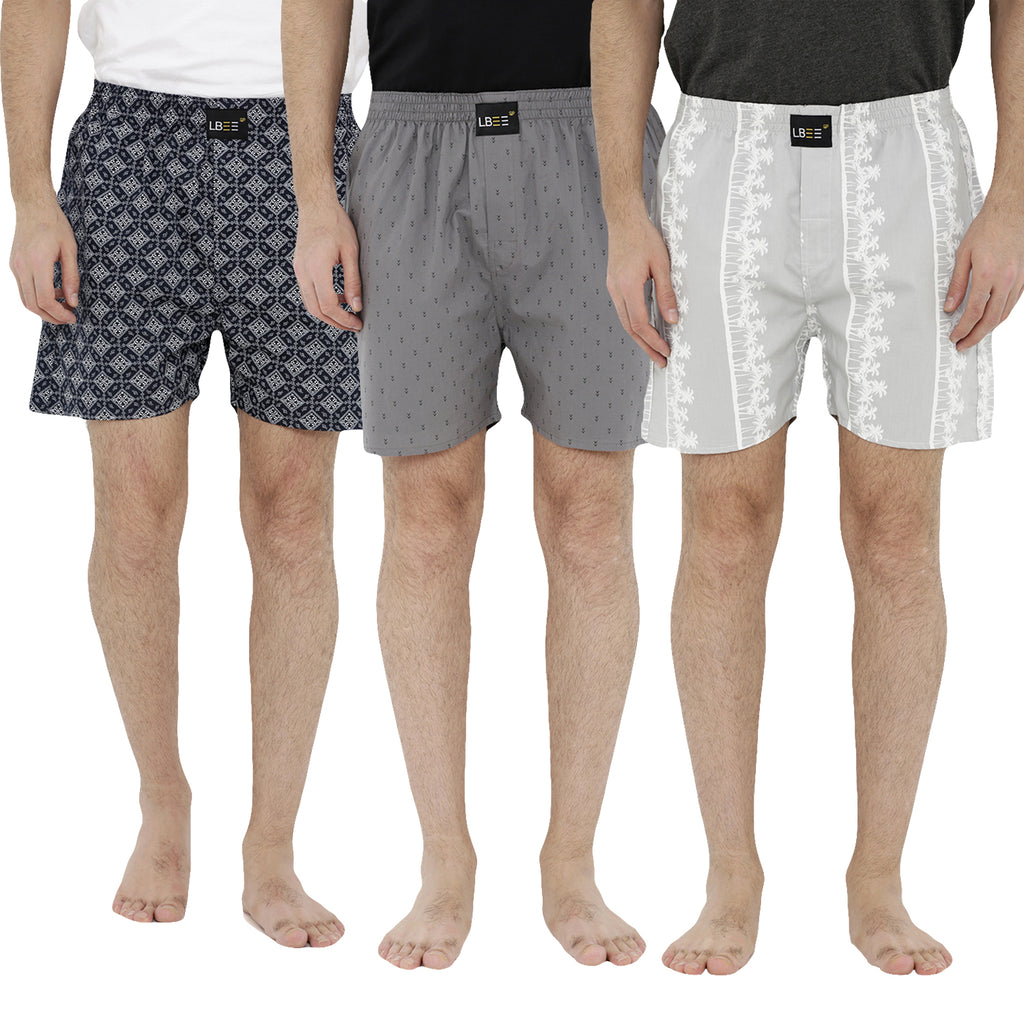 London bee men's boxer combo pack of 3 MLBCP30052